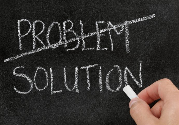 Problems replaced by solutions.